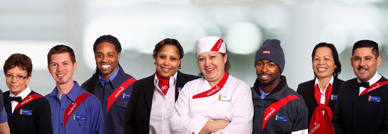 Group of diverse Sodexo employees